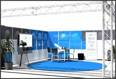 Exhibition Stand Visuals : D exhibition stand design visuals aspire create